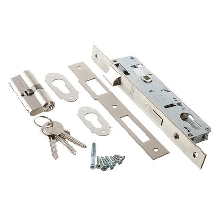 Закрыть Kale Kilit 152/3MR Корпус врезного цилиндрового замка для деревянных дверей. 3 цилиндрических ригеля. Межосевое расстояние: 85мм. Бэксет: 45мм.