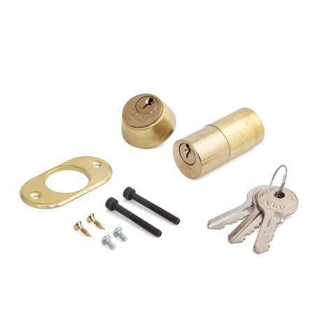 Комплект цилиндровых механизмов (50 мм) внешний/внутренний, фикс./фикс. для электромеханических замков 3 кл.