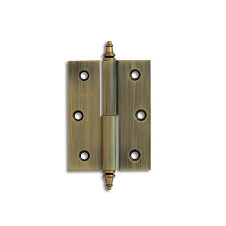 Разъёмные петли с фигурной заглушкой Apecs 80*60 F Brass